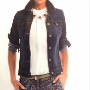 Cabi Jeans Womans Size M Jean Jacket With Pockets